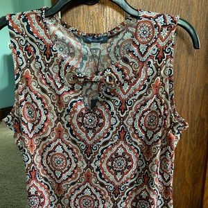 NWT Tommy Hilfiger Sleeveless Blouse Size M